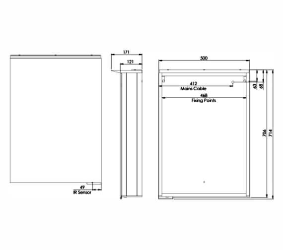 Additional image of Roper Rhodes Radiance Illuminated Single Door LED Mirror Cabinet