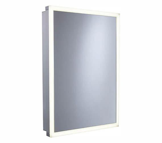 Roper Rhodes Contrast 504 x 703mm Illuminated Single Door Mirror Cabinet