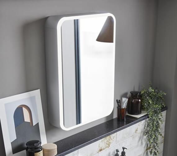 Roper Rhodes System 500mm Wide Illuminated Single Door Mirror Cabinet