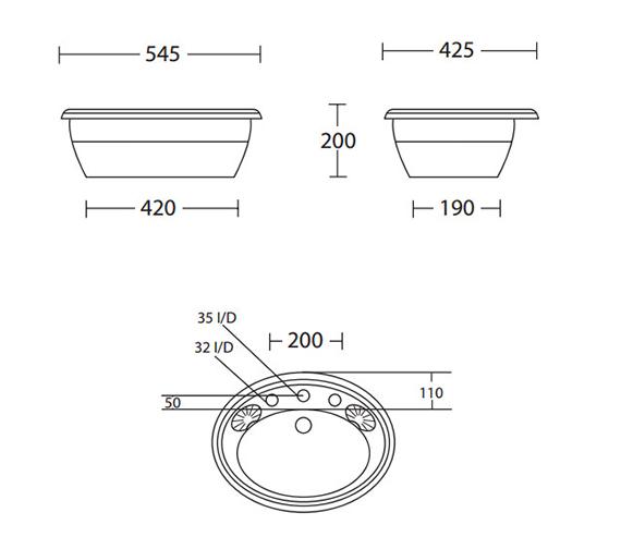 Technical drawing QS-V40524 / OX1IB11030