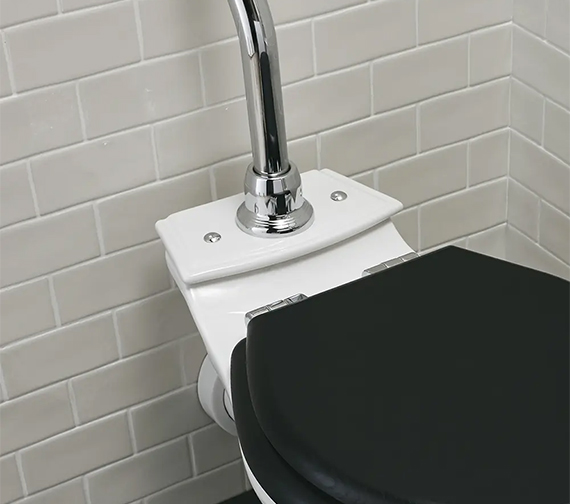 Additional image of Imperial Astoria Deco Round Bowl WC Pan And Low Level Cistern