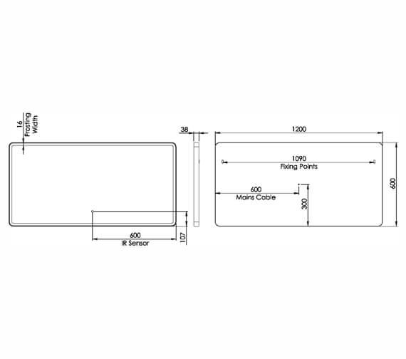 Technical drawing QS-V98677 / FR60SW