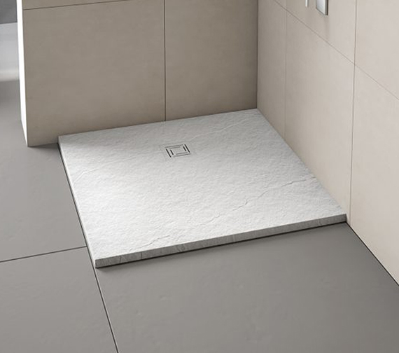 Additional image of Merlyn TrueStone Square 900 x 900mm Shower Tray With Waste