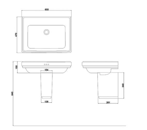 Technical drawing QS-V101443 / RIV3NTH
