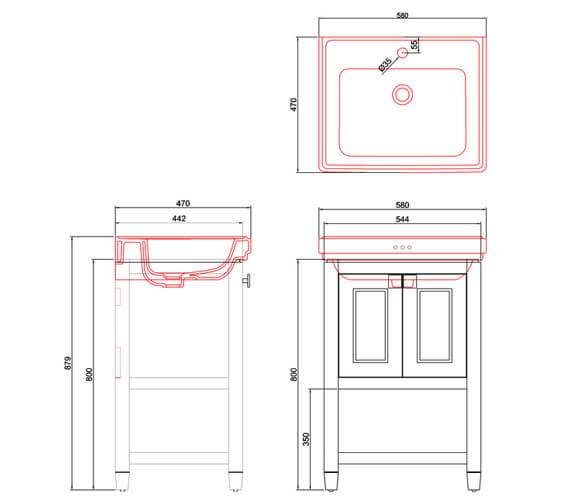 Technical drawing QS-V101442 / RIVF580B