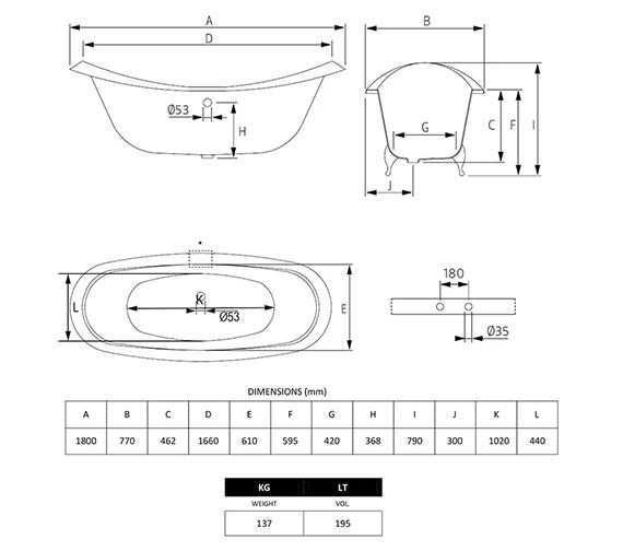 Technical drawing QS-V40709 / ZCI000104S