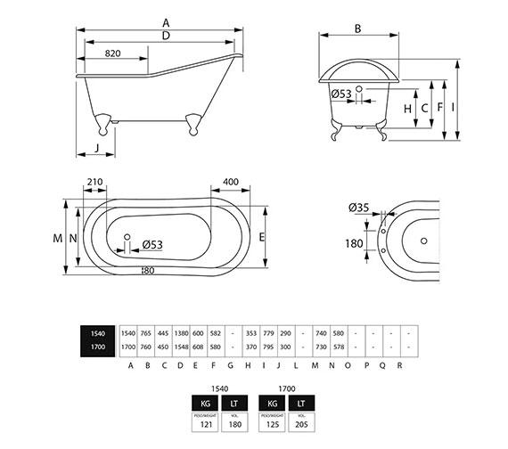 Technical drawing QS-V40711 / ZCI000102S