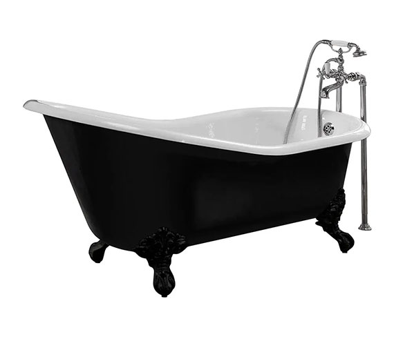 Imperial Ritz Cast Iron Slipper Bath With Imperial Feet