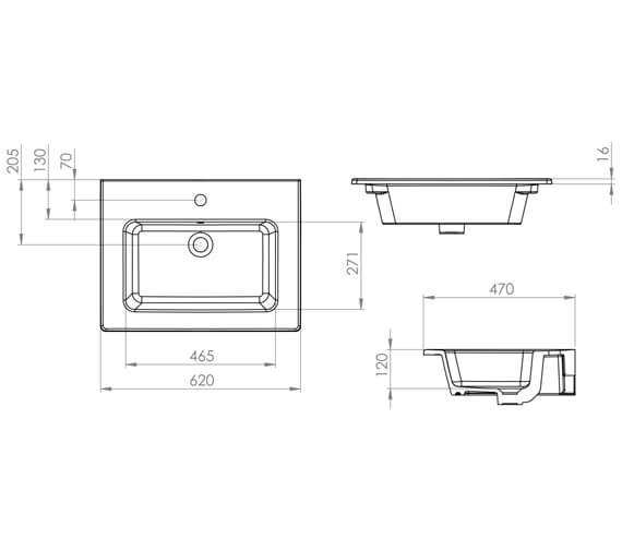Technical drawing QS-V80992 / UN060B