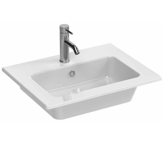 Saneux Uni 600mm Wide One Taphole Washbasin