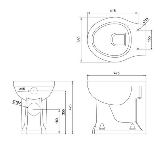 Technical drawing QS-V105888 / P14BLOSS