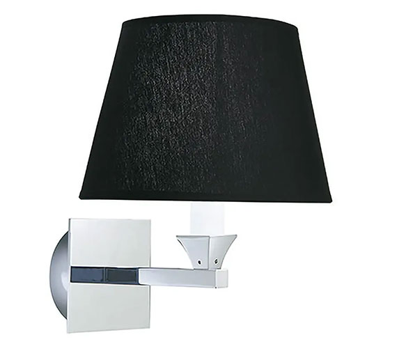 Additional image of Imperial Astoria Wall Lamp With Black Fabric Shade - XLP1000900