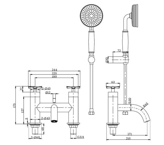 Technical drawing QS-V101445 / RIV4CHR