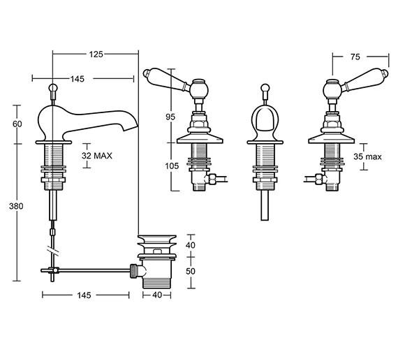 Technical drawing QS-V104125 / ZRADB03100