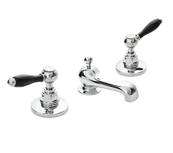 Imperial Radcliffe 3-Hole Basin Mixer Tap Complete With Pop-Up Waste