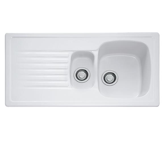 Franke Elba ELK 651 Ceramic White 1.5 Bowl Kitchen Inset Sink