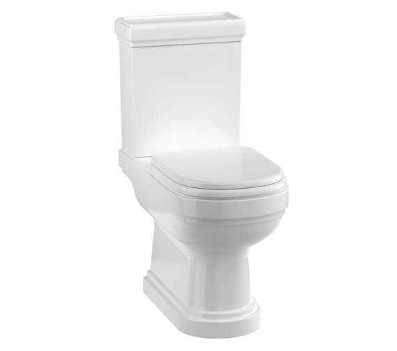 Burlington Riviera Open Back Close Coupled WC With Cistern And Seat