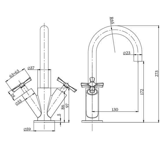 Technical drawing QS-V101446 / RIV8CHR