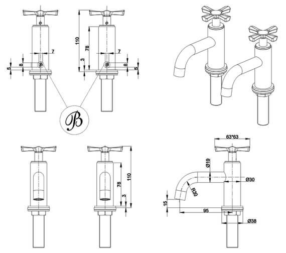 Technical drawing QS-V101447 / RIV7CHR