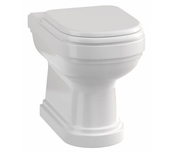 Burlington Riviera 535mm Back To Wall WC Pan With Seat
