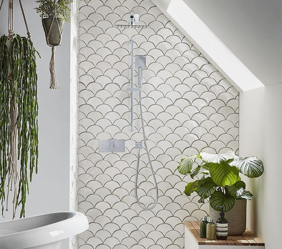 Roper Rhodes Sync Dual Function Shower Set With Head And Riser Rail