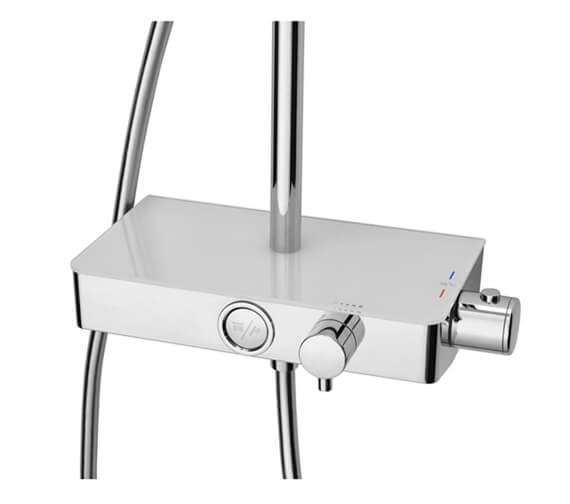 Additional image of Triton Push Button Bar Diverter Mixer Shower