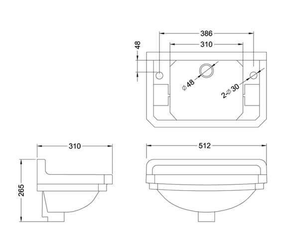 Technical drawing QS-V105890 / B82THBLUE