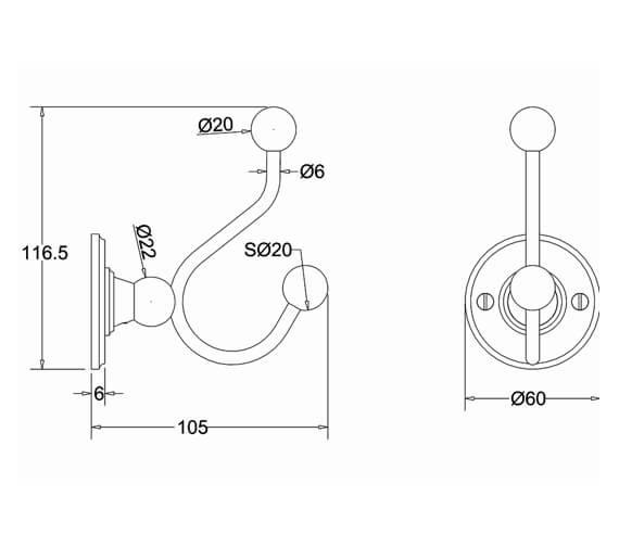 Technical drawing QS-V105963 / A4CHR