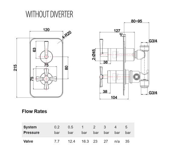 Technical drawing QS-V101456 / RIV2CHR