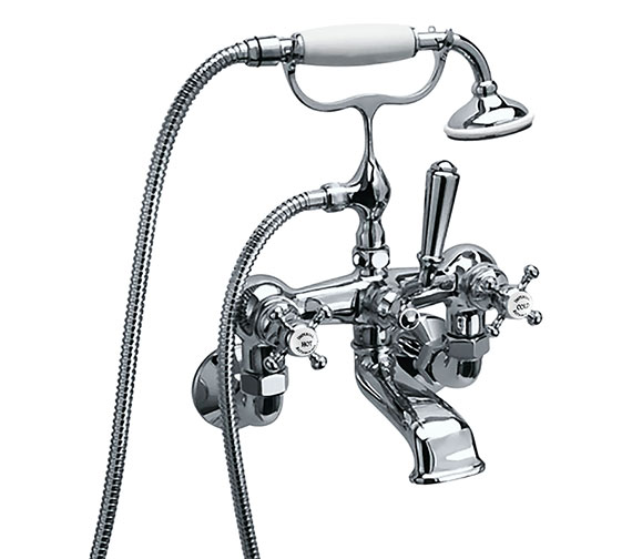 Imperial Westminster Wall Mounted Bath Shower Mixer Tap With Kit