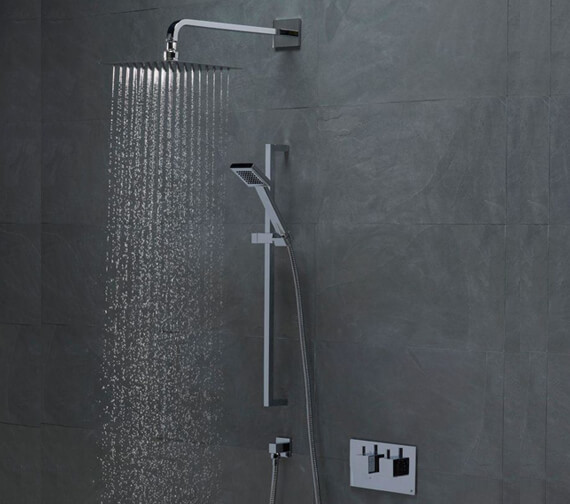 Roper Rhodes Event Square Dual Function Shower Valve With Shower Set