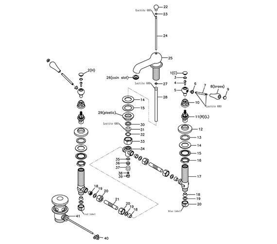 Technical drawing QS-V44091 / ZREGM03100