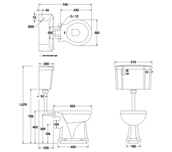 Technical drawing QS-V105891 / P2BLUE