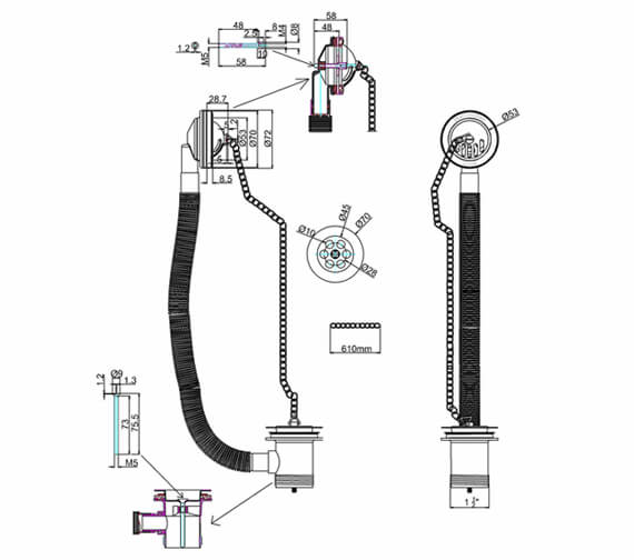 Technical drawing QS-V105969 / W3