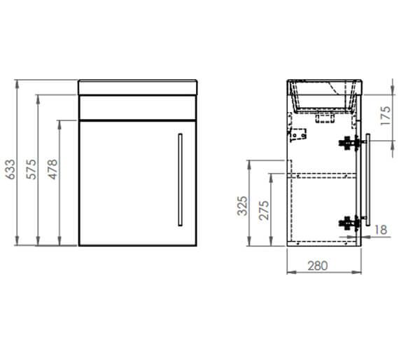 Technical drawing QS-V19471 / ESVB45W