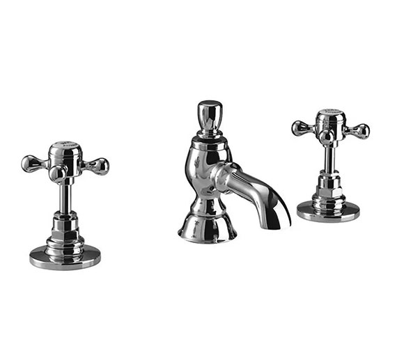 Imperial Victorian 3-Hole Extended Basin Mixer Tap With Pop-Up Waste