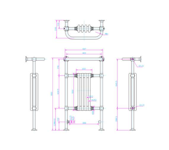 Technical drawing QS-V61978 / R2 CHR