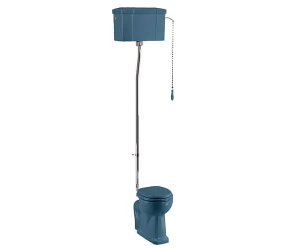 Burlington Bespoke Standard High Level WC 670mm With Flush Ceramic Cistern