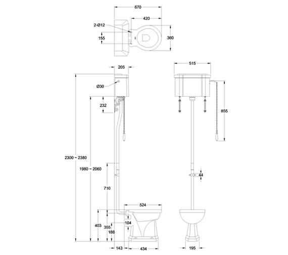 Technical drawing QS-V105892 / P2BLUE
