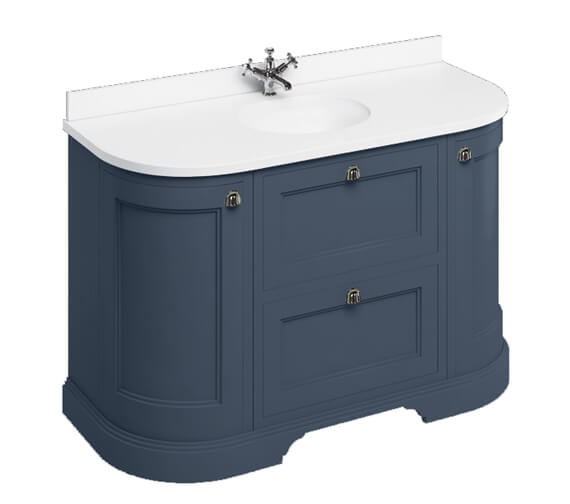 Alternate image of Burlington 1340mm Curved Vanity Unit With Worktop And Basin