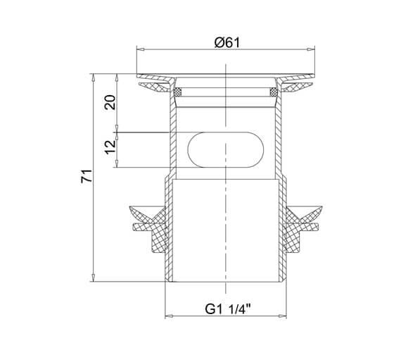 Technical drawing QS-V106111 / W18