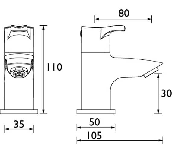 Technical drawing QS-V104595 / CAP 1/2 E6 C