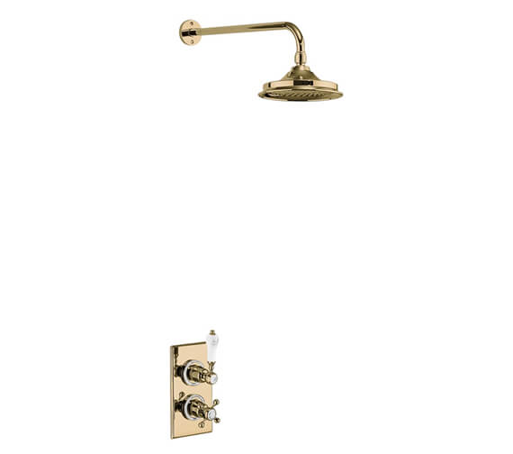 Additional image of Burlington Trent Concealed Thermostatic Valve With Shower Head And Arm