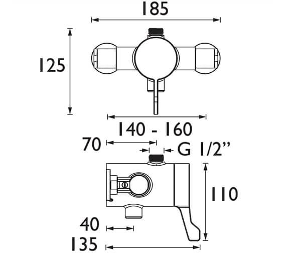 Technical drawing QS-V102633 / OP TS3650TO EL C