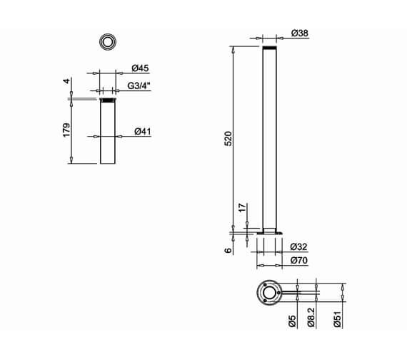Technical drawing QS-V105971 / W6
