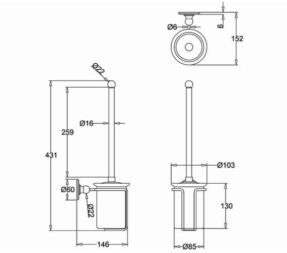 Technical drawing QS-V105974 / A8CHR