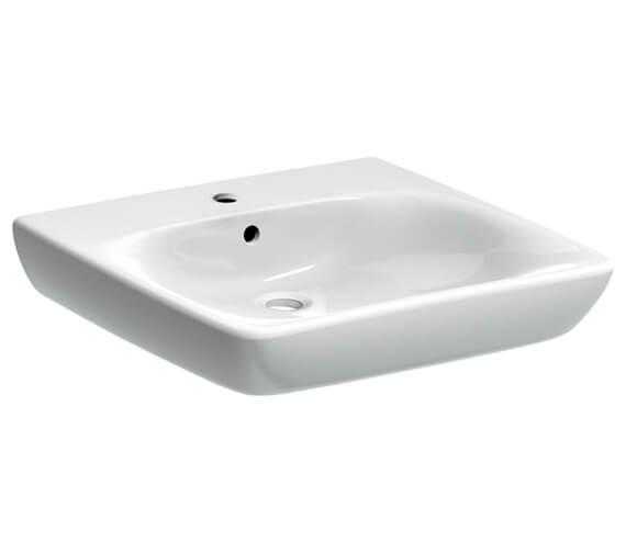 Geberit Selnova Comfort Single Tap Hole Less-Abled Washbasin White