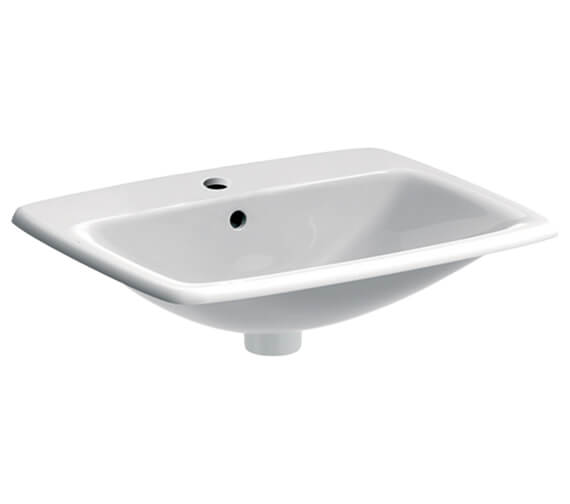 Geberit Selnova Square 550 x 450mm Countertop Washbasin