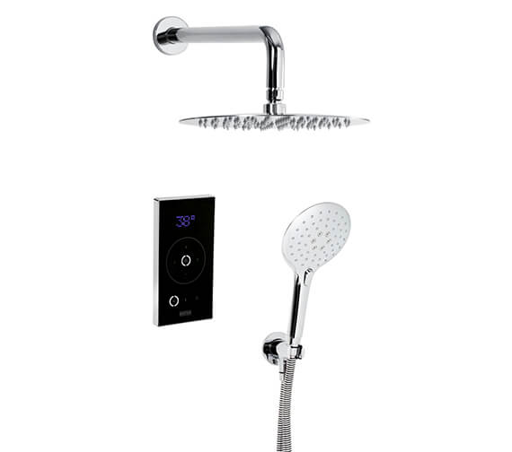 Bristan WavePlus Thermostatic Digital Mixer And Fixed Round Head And Handset