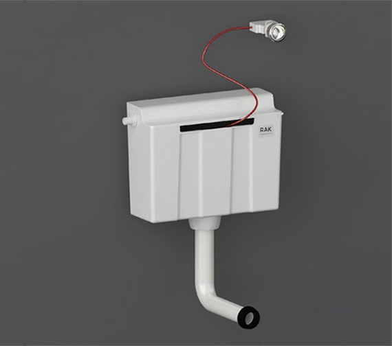 RAK Concealed Cistern For Furniture Complete With Cable Operated Push Button